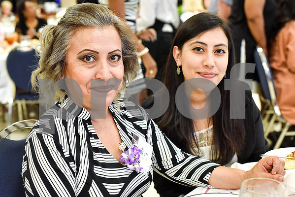 Susana Castro and Susana Castro pose for a photo during the Women in Tyler Luncheon at the Tyler Rose Garden Center in Tyler, Texas, on Thursday, March 23, 2017. The Women in Tyler Planning Committee honored six women who have made an impact in the community. (Chelsea Purgahn/Tyler Morning Telegraph)