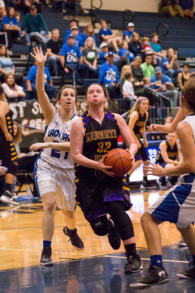 2016-02-19 - LH Lady Panther Basketball vs Needville