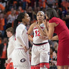 Gabby Connally, Haley Clark (12) and Joni Taylor– 2018 NCAA women's basketball tournament, round one – March 17, 2018