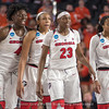 Caliya Robinson (4), Haley Clark, Que Morrison (23) and Gabby Connally (2)– 2018 NCAA women's basketball tournament, round one – March 17, 2018