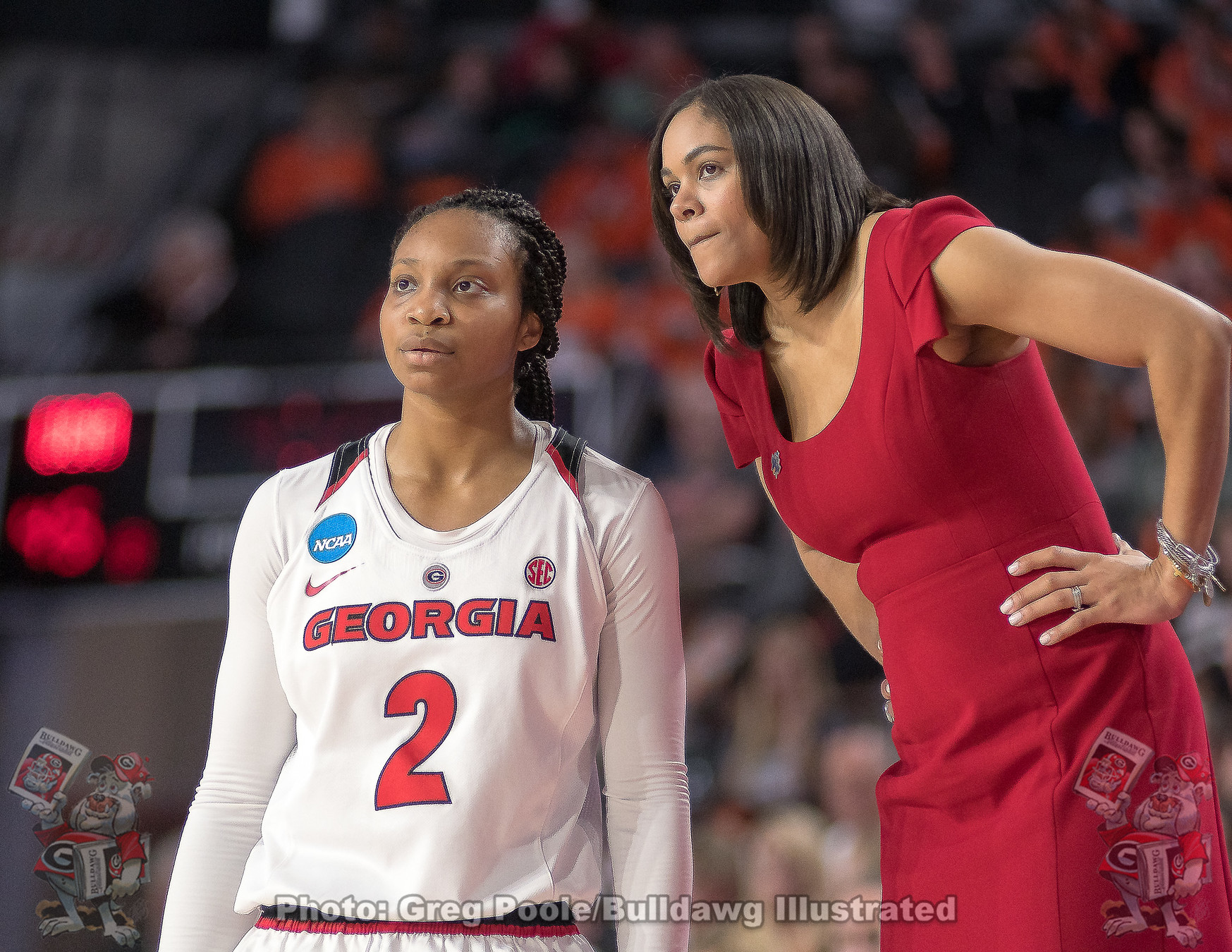 Gabby Connally (2) and Joni Taylor