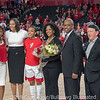 Haley Clark's family, Joni Taylor and Greg McGarity– Senior Day – Georgia vs. Florida – February 25, 2018