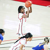 Georgia guard Que Morrison (23) during a game against Florida at Stegeman Coliseum in Athens, Ga., on Sunday, Jan. 10, 2021. (Photo by Tony Walsh)