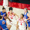 Georgia center Maori Davenport (15) during a game against Florida at Stegeman Coliseum in Athens, Ga., on Sunday, Jan. 10, 2021. (Photo by Tony Walsh)
