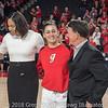 Joni Taylor, Simone Costa, and Greg McGarity– Senior Day – Georgia vs. Florida – February 25, 2018