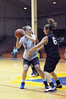Cal's Lauren Greif guards Cal Poly's Colleen Garrett