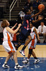 Arizona's Ify Ibekwe tries for a basket
