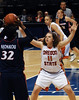 Oregon State's Talisa Rhea guards Arizon's Amina Njonkou