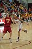 Hailey Dunham and Roslyn Gold-Onwude keep an eye towards the ball