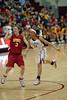 Hailey Dunham and Roslyn Gold-Onwude keep an eye towards the ball