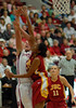 Stanford's Jayne Appel and USC's Nadia Parker battle under the basket