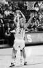 Stanford's Jayne Appel tries to block USC's Kari LaPlante