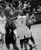 Vanguard's Nondi Johnson fights Stanford's Melanie Murphy for the rebound
