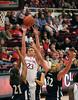 Stanford Sophomore Jeanette Pohlen gets triple teamed