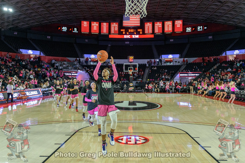 The Lady Dawgs Enter The Stege