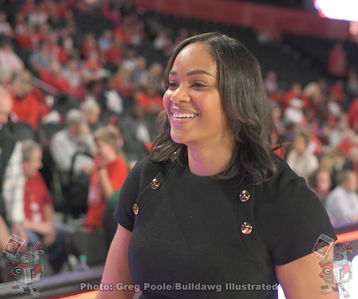 UGA women's basketball head coach Joni Taylor during Georgia's season opener versus Kennesaw State, Thursday, November 7, 2019