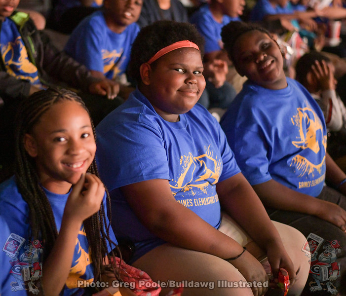 Students from Gaines Elementary