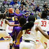 Bailey Hixon looks to pass inside as Danes regain command.