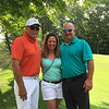 From left, Long Meadow pro Gene Manley of Lowell, with Laura Jenkins and Mount Pleasant pro Joel Jenkins of Billerica