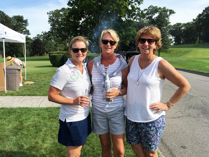 From left, Lauri Welch of Lowell, Robin Koravos of Westford and Trish O'Donnell of Lowell