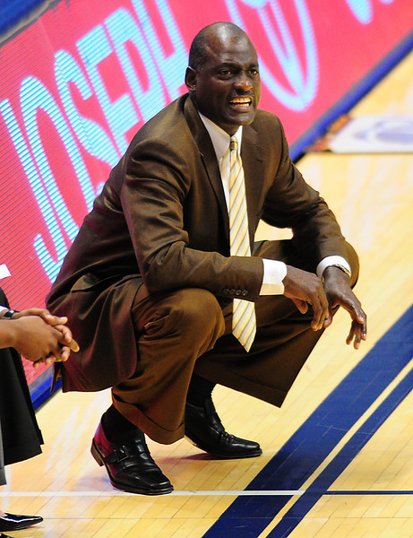USC Trojans head coach Michael cooper.  (#4) Xavier defeated USC Trojans 69 - 66 at the Cintas Center in Cincinnati, Ohio.