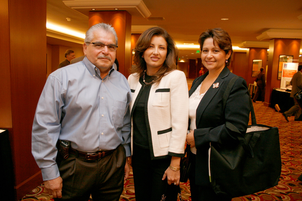 Mike Trevino, Sr., Trevino Mechanical;  Deputy Mayor Pro Tem Dr. Elba Garcia; and Conference Co-Chair Lourdes Spinola