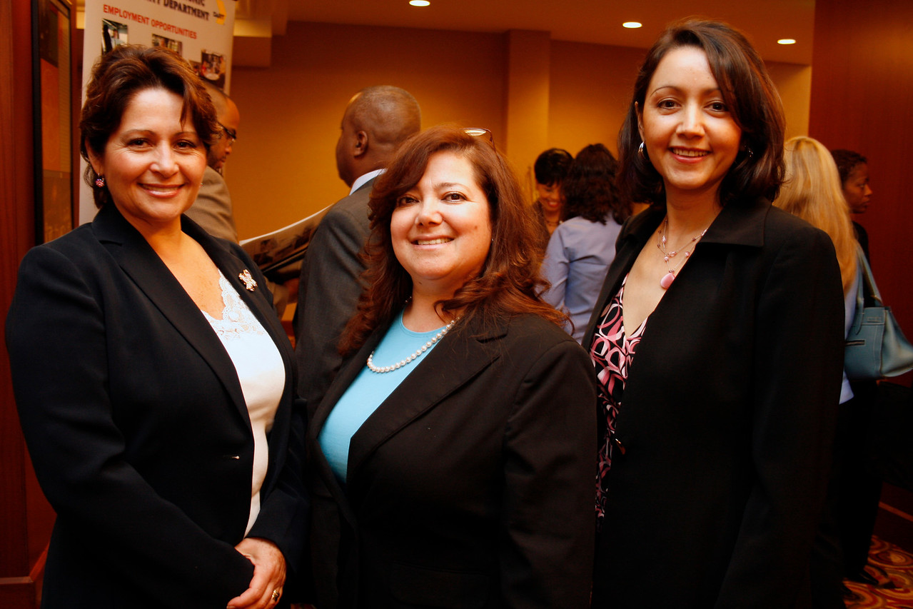 Conference Co-Chair Lourdes Spinola; Dr. Martha Quiroz and Guest