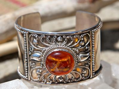 Australian silver & amber cuff