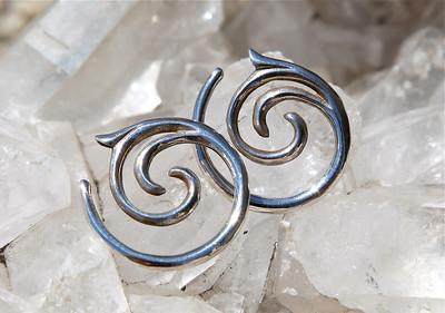 Silver Tribal Earings
