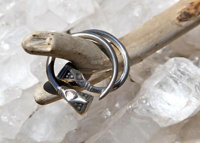 Silver earings, Africa