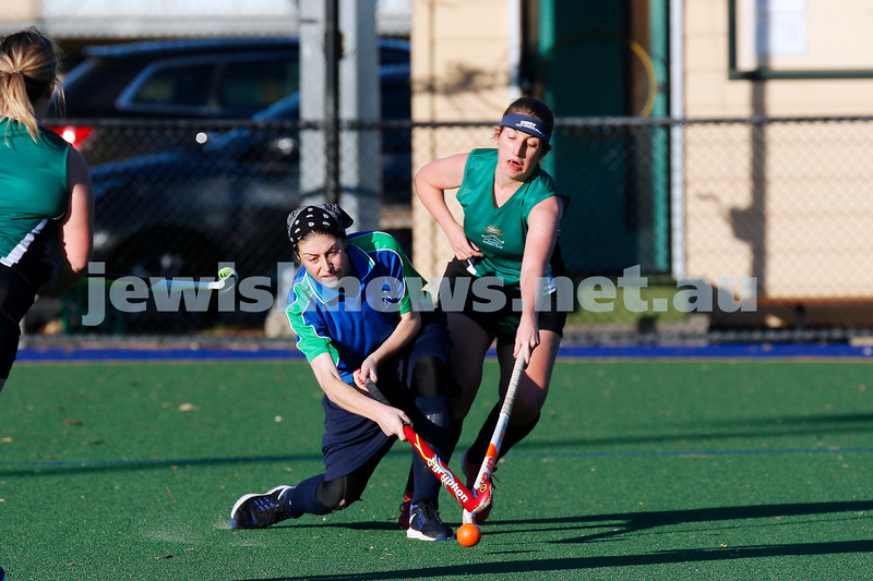 15-7-18. Maccabi Women Hockey v Power House. Albert Park. Photo: Peter Haskin