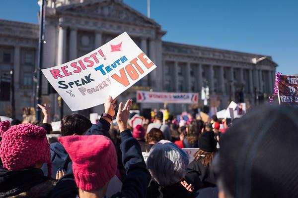 Women's March 2018 in San Francisco