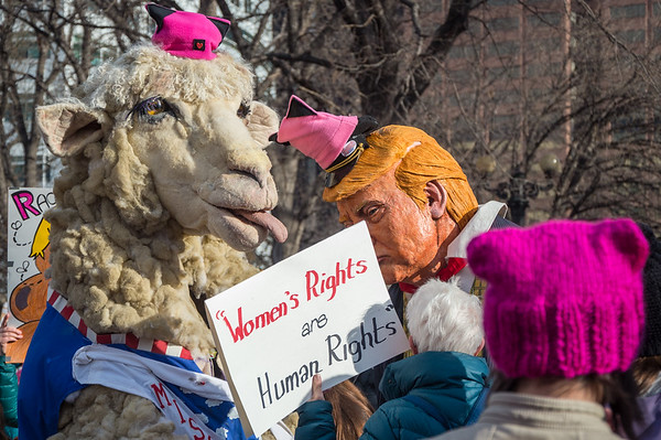 January 21, 2017; Denver, CO, USA; The Women's March on Denver, on January 21, 2017, was part of a global proclamation that the violation of anyone's human rights will not be tolerated. The March was an effort to send a message of unity to all that will listen. <br /> <br /> Photo Credit: Al Milligan-KLC fotos