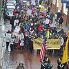 Thousands participated in a sister march in Santa Fe, New Mexico to the D.C. Women's March on Washington. The march went from the Bataan Memorial Building, around the Santa Fe Plaza and then to the New Mexico State Capitol for a noon to 2 p.m. rally Saturday, January 21, 2017. Clyde Mueller/The New Mexican