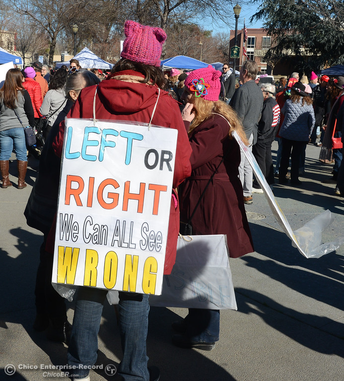 . Thousands turn out for the Women\'s March in Chico Saturday, January 20, 2018  in Chico, California. (Emily Bertolino -- Enterprise-Record)