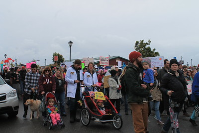 Saturday's Women's March on Eureka was a family event for many. (Natalya Estrada - The Times-Standard)