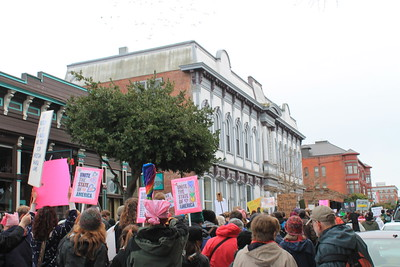 Marchers sought unity and human rights for all. (Natalya Estrada - The Times-Standard)
