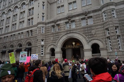 12th Street entrance of Trump Hotel, in the old Post Office building.  Note: There is only one guard at this entrance at this point.
