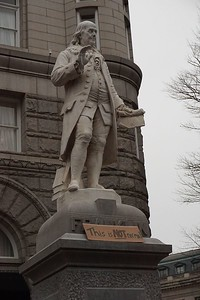 Ben Franklin on the corner of 12th and Pennsylvania, the first time I passed by.