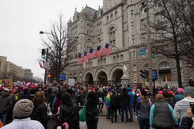 Pennsylvania Ave entrance of Trump Hotel, in the former Post Office building.