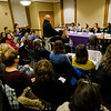 The Massachusetts Commission on the Status of Women held an open forum at the Leominster Public Library on Tuesday afternoon. SENTINEL & ENTERPRISE / Ashley Green