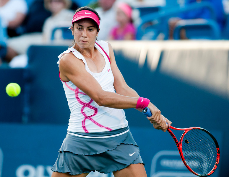 Christina Mchale (USA) had a nice run until she ran into (4) Kim Clijsters (BEL)(6-1) (6-1) Western & Southern Financial Group Women's Open.(CincySportsZone/Scott Davis)