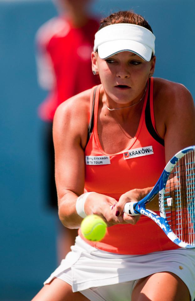 (7) Agnieszka Radwanska (POL).Western & Southern Financial Group Women's Open.(CincySportsZone/Scott Davis)