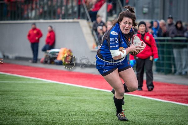 Womens Regional Rugby, Dragons v RGC at Centre for Sporting Excellence in Ystrad Mynach, South Wales on Sunday 14 January 2018.   Pictures by Simon Latham