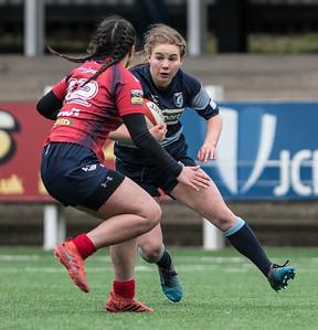 Women's Regional Rugby, Cardiff Blues U18's v Scarlets U18's April 1 2018 at Sardis Road, Pontypridd, South Wales.   Photographer : Simon Latham