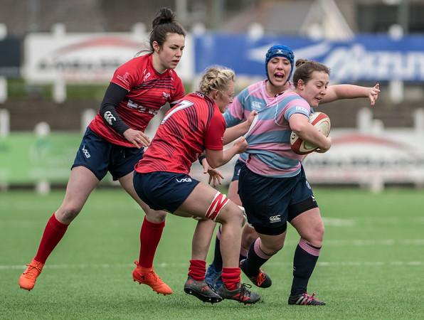 Women's Regional Rugby, Cardiff Blues Women v Scarlets Women April 1 2018 at Sardis Road, Pontypridd, South Wales.   Photographer : Simon Latham