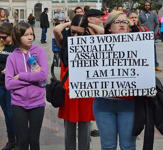 Sexual assault survivor at the 1 Billion Rising March in Denver.