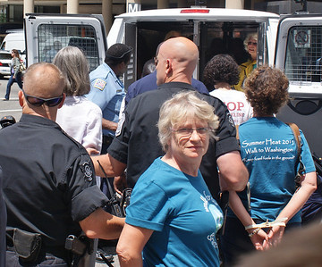 This woman was among dozens of people arrested at an anti KXL pipeline demonstration in Washington, DC.