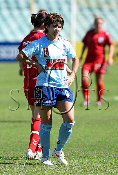 Sarah Walsh - Sydney F.C scored a hat-trick of goals in the match - Action from Westfield W-League Round 5 match between Sydney F.C and Adelaide United played at the Sydney Football Stadium on the 1st November 2009. The match was won by Sydney F.C 6-0 (PHOTO: ROB SHEELEY - SMP IMAGES) These images are intended for editorial use only (e.g. news or commentary print or electronic). Any commercial or promotional use requires additional clearance.