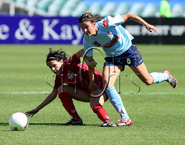Julie Rydahl - Sydney F.C - Action from Westfield W-League Round 5 match between Sydney F.C and Adelaide United played at the Sydney Football Stadium on the 1st November 2009. The match was won by Sydney F.C 6-0 (PHOTO: ROB SHEELEY - SMP IMAGES) These images are intended for editorial use only (e.g. news or commentary print or electronic). Any commercial or promotional use requires additional clearance.